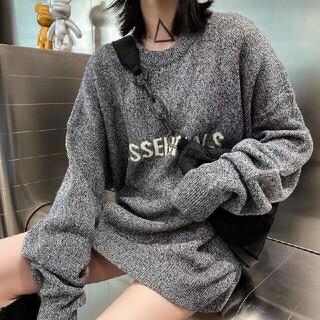 エッセンシャルデザイン(ESSENTIAL DESIGNS)の  送料込ESSENTIALS ニットセーター BLACK FOG XL(ニット/セーター)