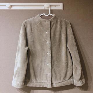 MUJI (無印良品) - 無印 着る毛布 ノーカラージャケット あたたかファイバー S 無印良品