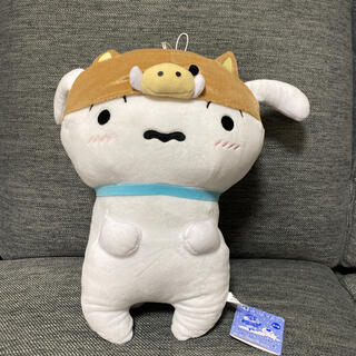 バンダイ(BANDAI)の新品タグ付き☆クレヨンしんちゃん・シロぬいぐるみ(キャラクターグッズ)