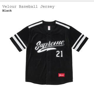 シュプリーム(Supreme)のsupreme velour baseball jersey(シャツ)