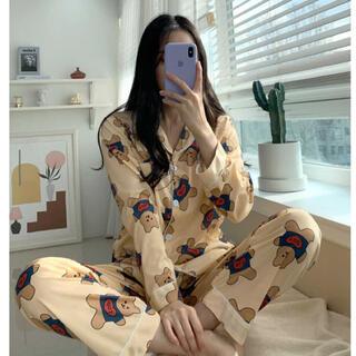 OHOTORO - 【予約商品】ベア 熊 デイリー ルームウェア パジャマ 韓国ファッション