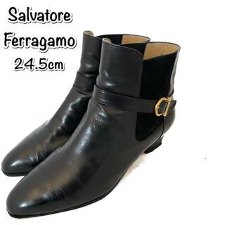 サルヴァトーレフェラガモ(Salvatore Ferragamo)のSalvatore Ferragamo  ショートブーツ ガンチーニ サイドゴア(ブーツ)