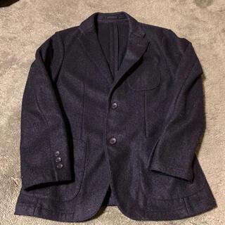 ユニクロ(UNIQLO)のユニクロ ウールテーラードジャケット ブラック Mサイズ(テーラードジャケット)