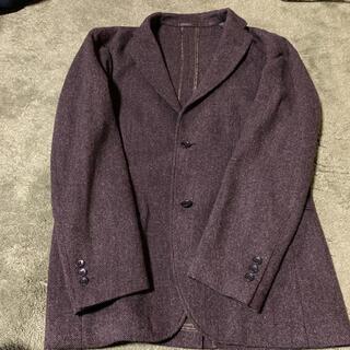 ユニクロ(UNIQLO)のユニクロ ウールテーラードジャケット ブラウン Lサイズ(テーラードジャケット)