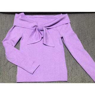 トランテアンソンドゥモード(31 Sons de mode)の美品リボンオフショルニット(ニット/セーター)