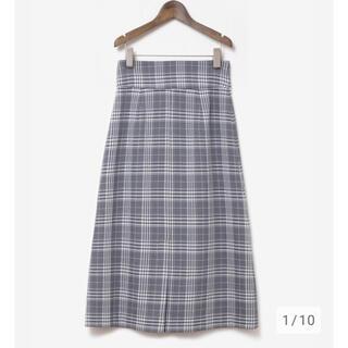 プラステ(PLST)の新品♡PLST キモウチェックAマキシスカート プラステ マキシスカート S(ロングスカート)