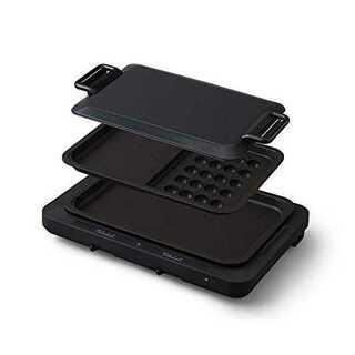1)ブラックアイリスオーヤマ ホットプレート たこ焼き 平面 タイプ 左右温度調(ホットプレート)