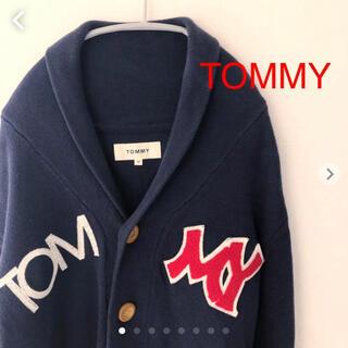 トミー(TOMMY)のTOMMY カーディガン Mサイズ ネイビー トミー(カーディガン)
