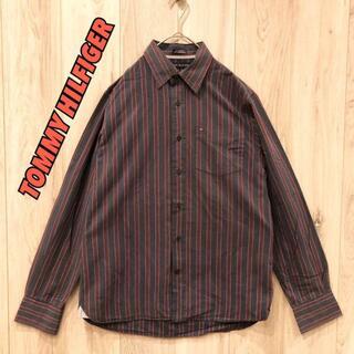 【美品】TOMMY HILFIGER ストライプシャツ 早い者勝ち(Tシャツ/カットソー(半袖/袖なし))