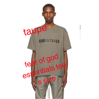 Fear of god Essentials tee taupe s size