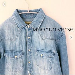 ナノユニバース(nano・universe)のnano・universe|ナノユニバース デニムシャツ 長袖 Mサイズ(シャツ)