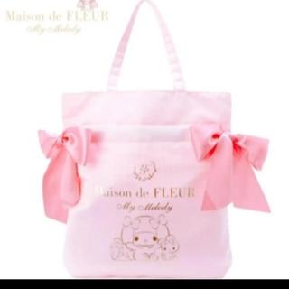 メゾンドフルール(Maison de FLEUR)のMaison de FLEUR マイメロ ダブルリボン トートバッグ(トートバッグ)