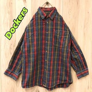 【美品】Dockers 生地厚シャツ 早い者勝ち(Tシャツ/カットソー(半袖/袖なし))