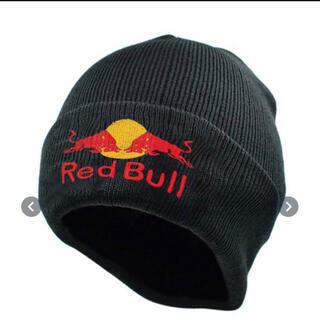 【大人気!】レッドブル ニット帽 キャップ ビーニー 帽子 黒 ブラック(ニット帽/ビーニー)