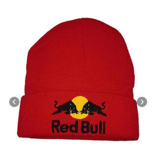 【大人気!】レッドブル ニット帽 キャップ ビーニー 帽子 赤 レッド(ニット帽/ビーニー)