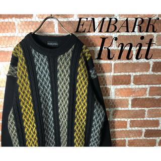 COOGI - ENBARK マルチカラー 古着 マット3D 総柄 ニット セーター