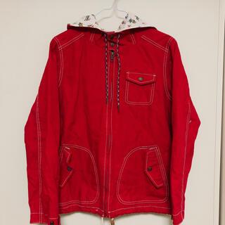 サンタモニカ(Santa Monica)の裏地が可愛い赤いジャケット(テーラードジャケット)