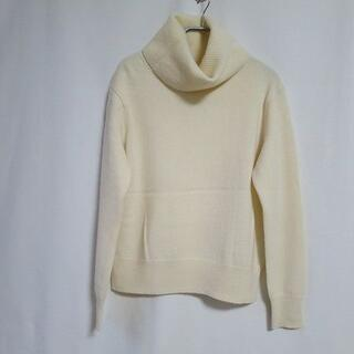 美品 ユニクロ カシミヤ100% タートルネック ニット セーター オフホワイト