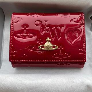 ヴィヴィアンウエストウッド 財布 2つ折り 赤 エナメル 折り財布(折り財布)