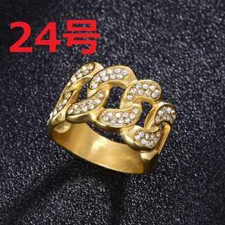 ブリンブリン マイアミキューバン リング ゴールド 指輪 24号(リング(指輪))