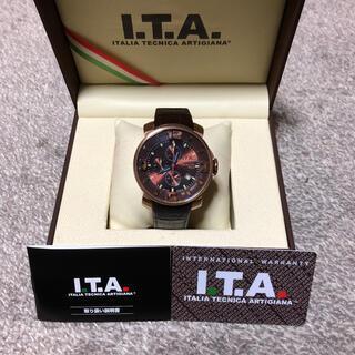 アイティーエー(I.T.A.)の【極美品‼️】I.T.A.⭐️カサノバクロノ  アイティーエー 腕時計 ブラウン(腕時計(アナログ))