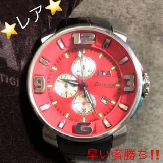 アイティーエー(I.T.A.)のI.T.A. ⭐︎クロノグラフ カサノバ・クロノ 日本市場限定モデル ロッソ 赤(腕時計(アナログ))
