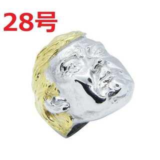 アメリカン アクセ 希少品 トランプ 大統領 シルバー リング 指輪 28号(リング(指輪))