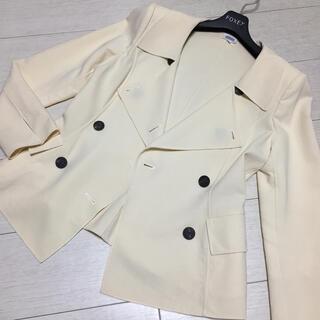 フォクシー(FOXEY)の美品✨FOXEY BOUTIQUE 水牛釦 春ジャケット 38サイズ(テーラードジャケット)