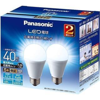 パナソニック LED電球 口金直径26mm 電球40W形相当 昼光色相当(4.(蛍光灯/電球)