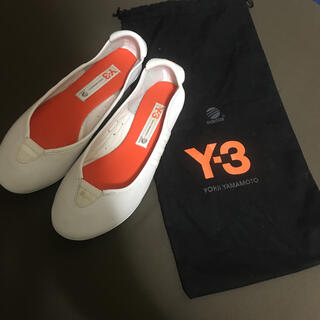 ワイスリー(Y-3)のY-3白革フラットシューズ(バレエシューズ)