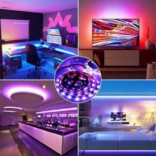 edテープ 2m tvバックライト 60led RGB フルカラー テープライト(蛍光灯/電球)