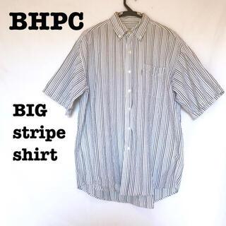 ビバリーヒルズポロクラブ(BEVERLY HILLS POLO CLUB(BHPC))の美品【 BHPC ビバリーヒルズポロクラブ 】ストライプシャツ ビッグシルエット(シャツ)