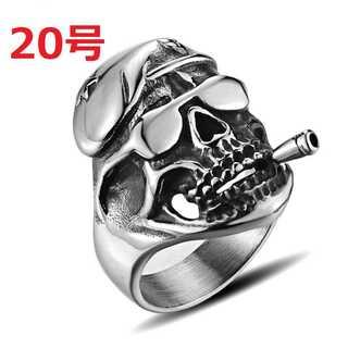 アメリカン アクセ 軍隊 軍曹 グリーンベレー 髑髏 スカル 指輪 20号(リング(指輪))