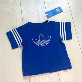 adidas - 新品 adidas baby アディダス 半袖 Tシャツ ブルー 70 赤ちゃん