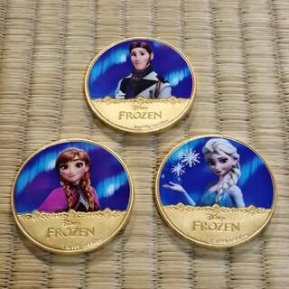 ディズニー(Disney)の専用 アナと雪の女王 カラーコイン 3点セット(貨幣)