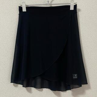 チャコット(CHACOTT)の美品⭐︎ジュエレスク  プルオンスカート Bタイプ Mサイズ ブラックメッシュ(ダンス/バレエ)