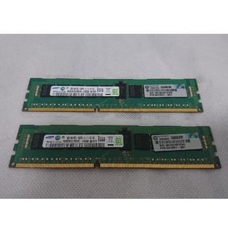 サムスン(SAMSUNG)のサーバー用 メモリ PC3-12800R 8GB×2枚 16GB(PCパーツ)