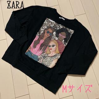 ザラ(ZARA)のZARA☆スパンコール トップス スウェット トレーナー(トレーナー/スウェット)