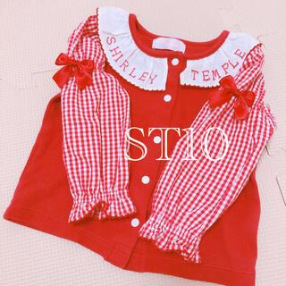 Shirley Temple - ギンガムチェック 赤 80cm ブラウス 長袖 カットソー シャーリーテンプル