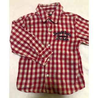 ダディオーダディー(daddy oh daddy)のダディオーダディ チェック 長袖シャツ 90(Tシャツ/カットソー)