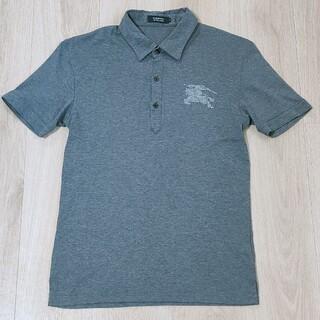 バーバリーブラックレーベル(BURBERRY BLACK LABEL)の極美品!!スタッズホースマーク 半袖ポロシャツ グレー 2(M)Burberry(ポロシャツ)