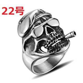 アメリカン アクセ 軍隊 軍曹 グリーンベレー 髑髏 スカル 指輪 22号(リング(指輪))