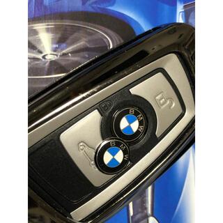 ビーエムダブリュー(BMW)のBMW リモートスマートキー、ラジオボタンにエンブレムステッカー11mm1枚(車種別パーツ)