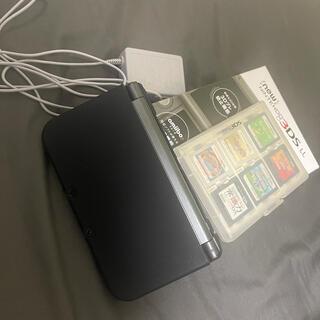 ニンテンドー3DS - Newニンテンドー3DS LL メタリックブラック  ソフト12本付き