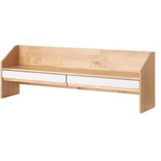 イケア(IKEA)の未使用IKEAクンスカプ学習机追加ユニットデスク用バーチホワイト(学習机)