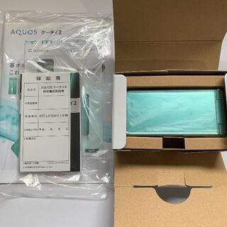 SHARP - SHARP AQUOS ケータイ2 601SH ライトグリーン