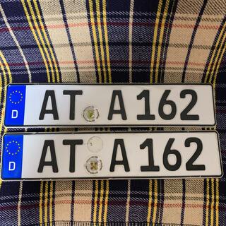 ビーエムダブリュー(BMW)の162 本物 ユーロナンバープレート ドイツ BMW ベンツ アウディポルシェ(車外アクセサリ)
