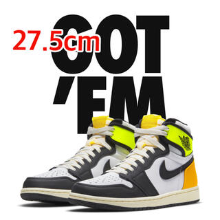 NIKE - NIKE AIR JORDAN 1 VOLT GOLD 27.5