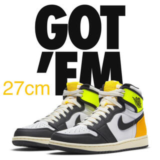 "NIKE - NIKE AIR JORDAN 1 HIGH OG ""VOLT GOLD"" 27"