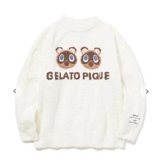 gelato pique - ジェラートピケ あつ森 つぶまめジャガードプルオーバー 大人用